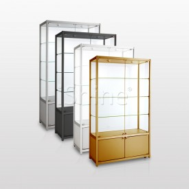 BLIZAK Gold Aluminium  Cabinet with Drawer IS340
