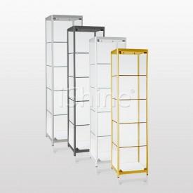 JEDAN Silver Glass Cabinet IS325