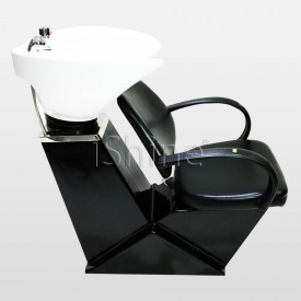 Gleam Premium Backwash with Chrome Arm Rests - Romford