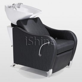 ELAN Classic Black White Border Stitching Backwash Chair IS007