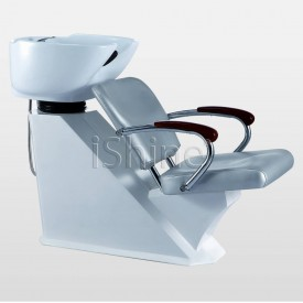 White Backwash with Silver Fabric Seat