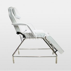 White Fabric Fixable Backwash Chair