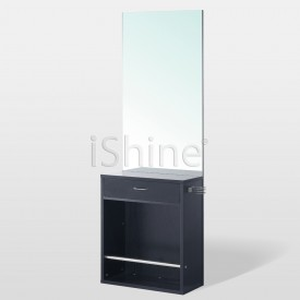 Standing Mirror with Built-In Foot Stool - Romford
