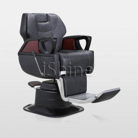 AURA Heavy Duty Barber Chair with Extendable Footrest IS012