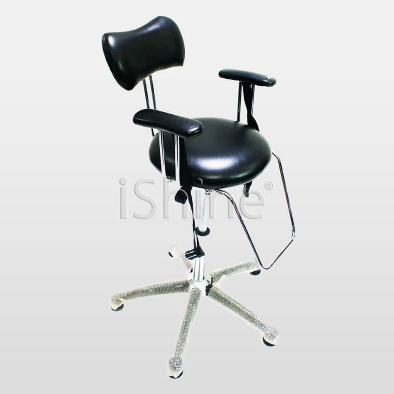ASHEN Black Barber Shop Stool with Wheels IS020