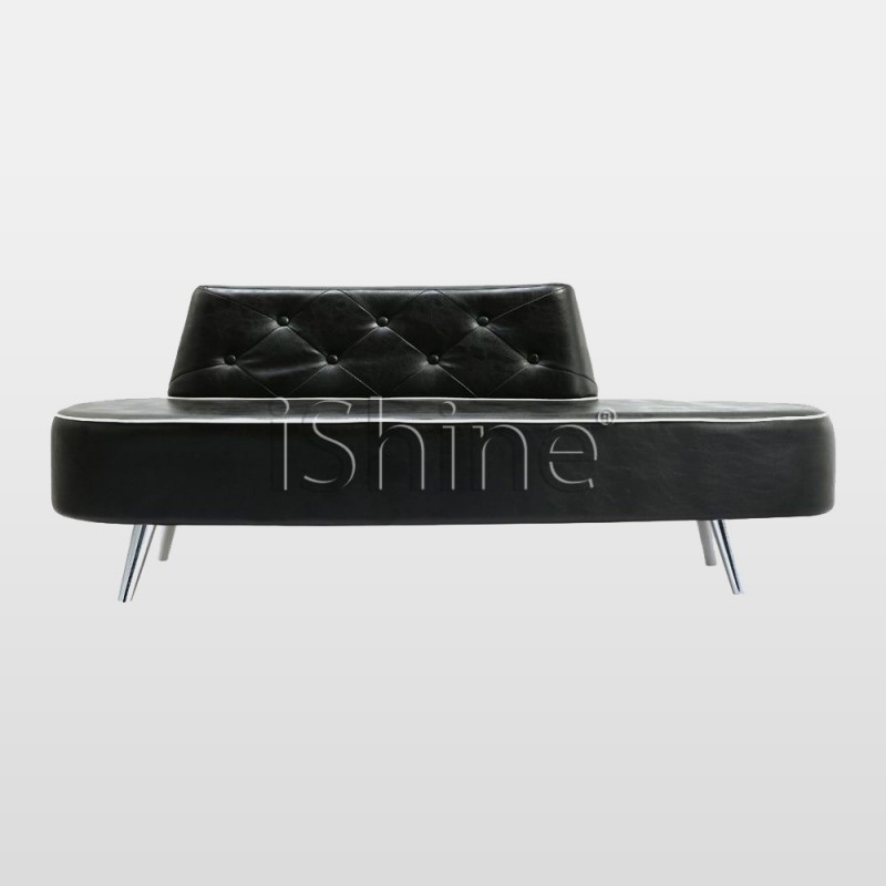 MODISH Hairdressing Salon Black Waiting Chair IS001