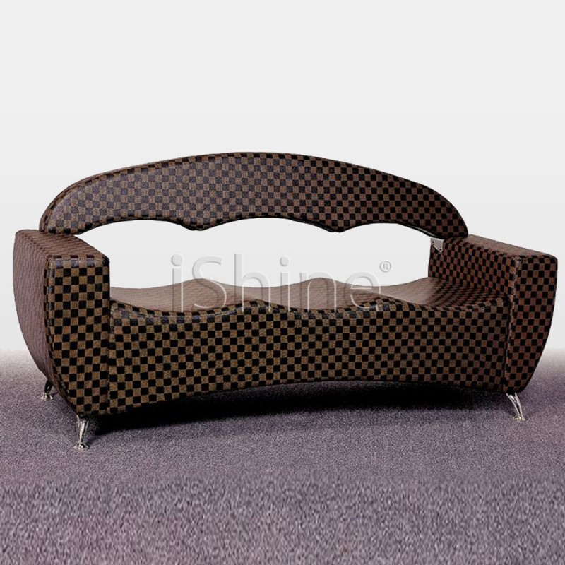 RIPPLE Pure Patterned Leather Salon Waiting Chair IS002