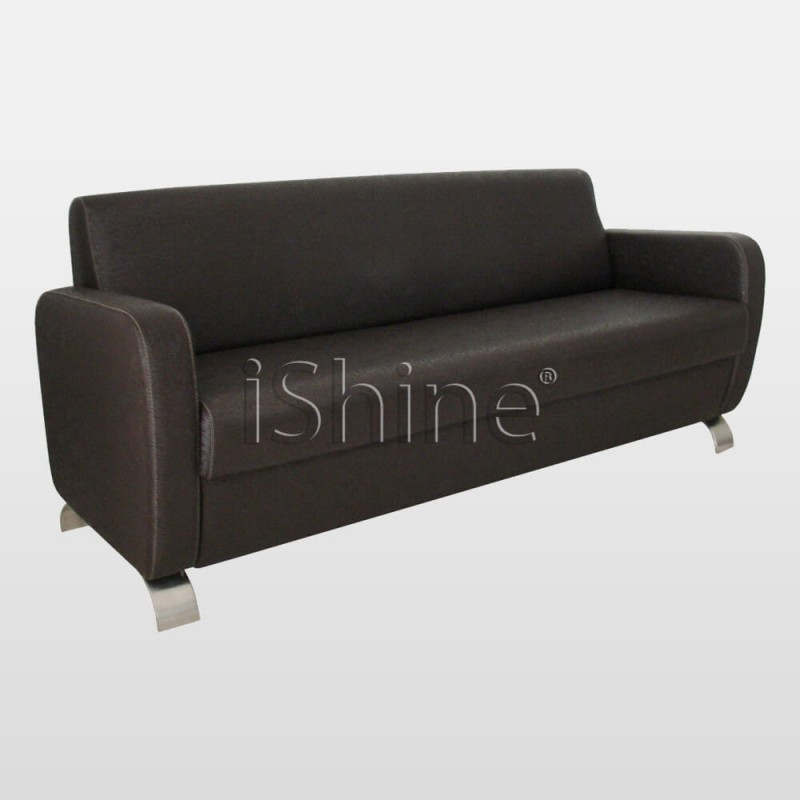 SERENE Simple Black Waiting Chair For Salons IS004