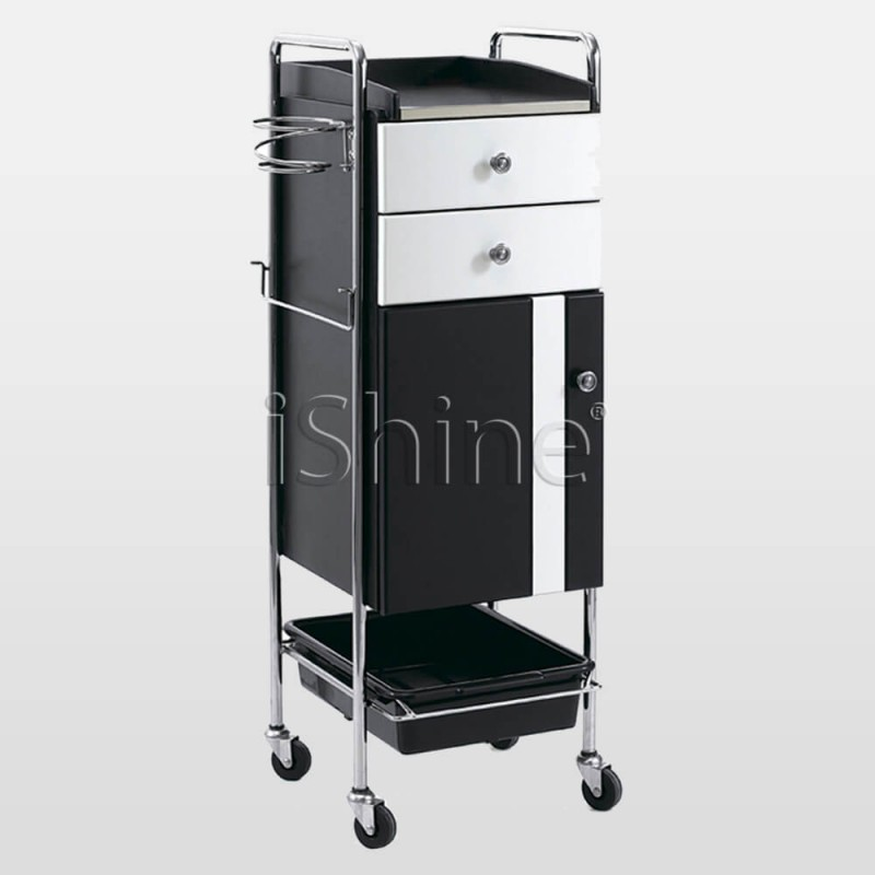 PIVOT Hairdresser's Trolley On Wheels with Drawers IS017